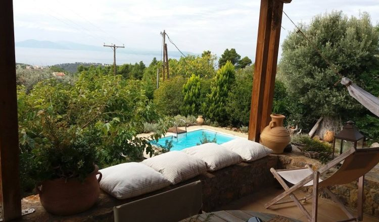 evia rent a villa pool view